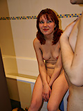 Red Lipstick Lips Clench As Teen Gets Fucked Hard. - Picture 1