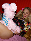 Playful Blond Teen Getting Her Fill Of Man Meat. - Picture 1