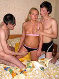 Teen Blondie Feels Two Cocks Entering Her Mouth And Pussy - Picture 4