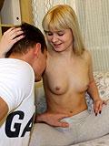 Sexual blonde hottie gets her juicy holes banged so well